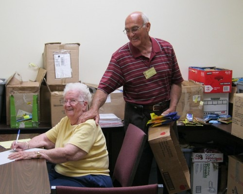 Our beloved volunteers, Peewee and Calvin